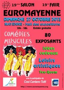 Salon EUROMAYENNE l'affiche du 19 <sup>ème</sup> salon comédies musicales